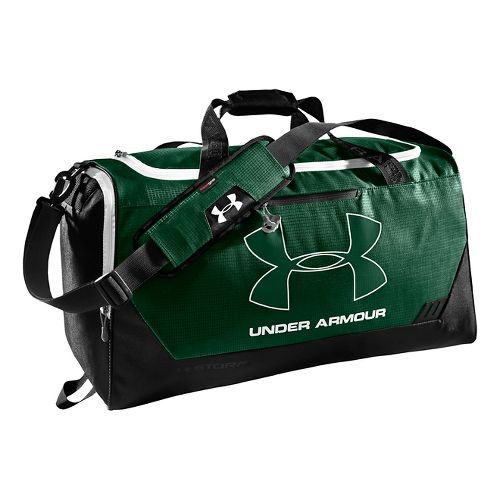 Under Armour Hustle MD Duffel Bags - Forest Green/Black