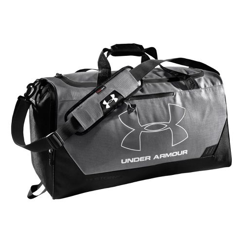 Under Armour Hustle MD Duffel Bags - Graphite/Black