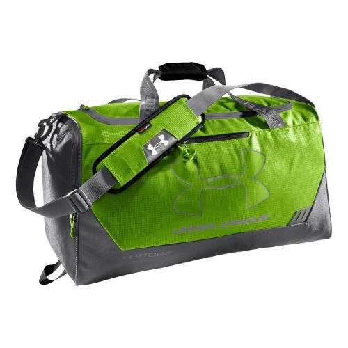 Under Armour Hustle MD Duffel Bags - Hyper Green/Graphite