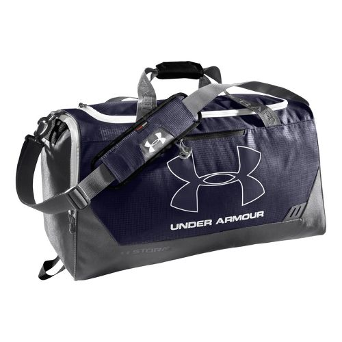 Under Armour Hustle MD Duffel Bags - Midnight Navy/Graphite