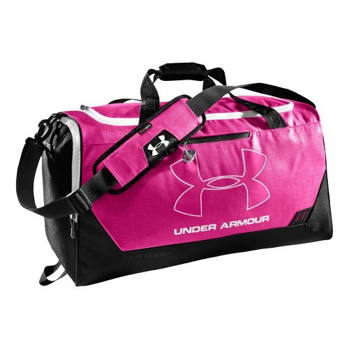 Under Armour Hustle MD Duffel Bags - Pinkadelic/Black