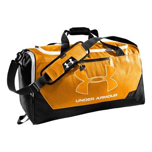 Under Armour Hustle MD Duffel Bags - Steeltown Gold/Black