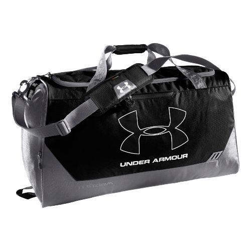 Under Armour Hustle LG Duffel Bags - Black/Graphite