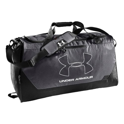 Under Armour Hustle LG Duffel Bags - Graphite/Black
