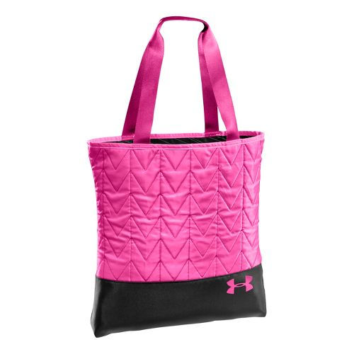 Womens Under Armour Define Tote Bags - Black/Pinkadelic