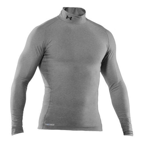 Mens Under Armour EVO Coldgear Compression Mock Long Sleeve No Zip Technical Tops - True ...