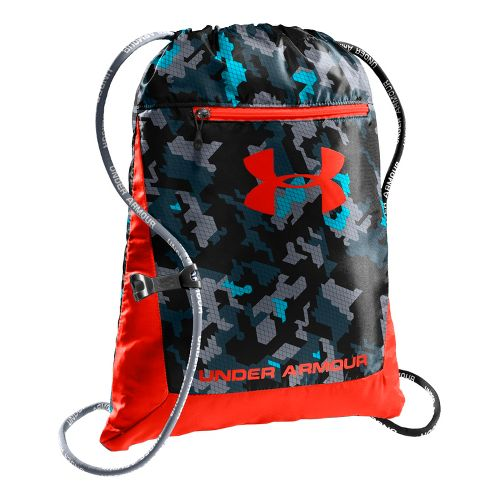 Under Armour Hustle Sackpack Bags - Black/Wham
