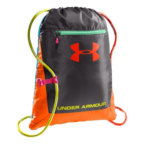 Under Armour Hustle Sackpack Bags - Charcoal/Blaze