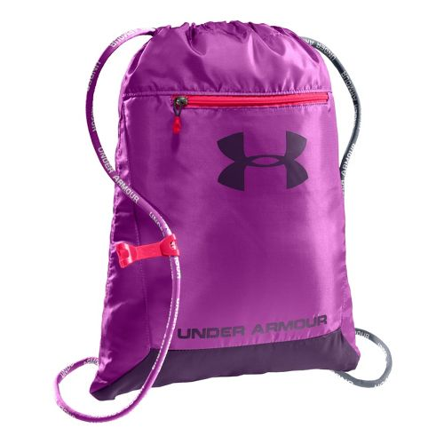 Under Armour Hustle Sackpack Bags - Strobe/Purple Rain