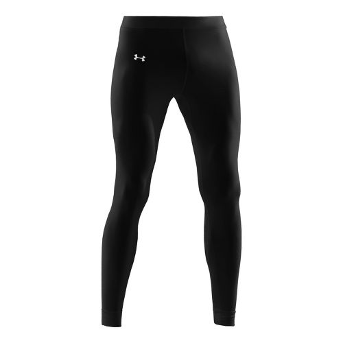 Mens Under Armour EVO Coldgear Compression Legging Fitted Tights - Black/White XL