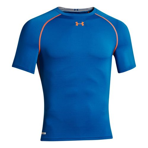 Mens Under Armour Heatgear Sonic Compression T Short Sleeve Technical Tops - Superior Blue 3XL ...