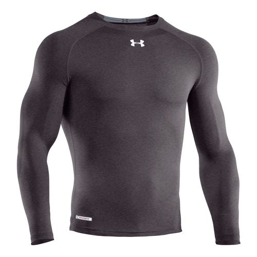 Mens Under Armour Heatgear Sonic Compression T Long Sleeve No Zip Technical Tops - Carbon ...