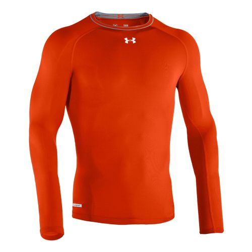 Mens Under Armour Heatgear Sonic Compression T Long Sleeve No Zip Technical Tops - Dark ...