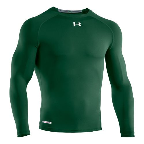 Mens Under Armour Heatgear Sonic Compression T Long Sleeve No Zip Technical Tops - Forest ...