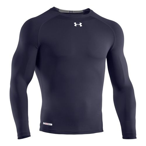 Mens Under Armour Heatgear Sonic Compression T Long Sleeve No Zip Technical Tops - Midnight ...