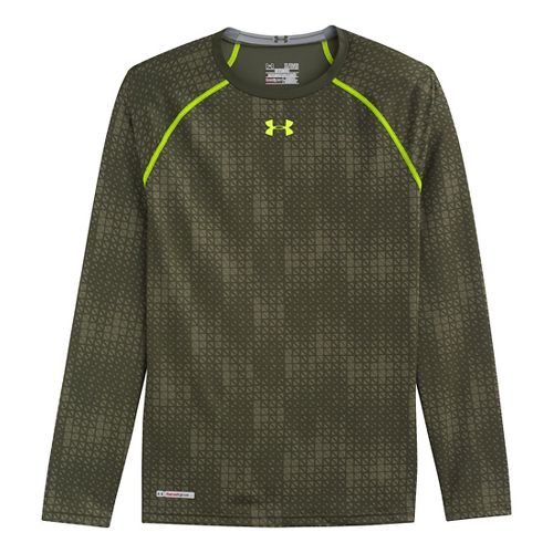 Mens Under Armour Heatgear Sonic Compression T Long Sleeve No Zip Technical Tops - Rifle ...