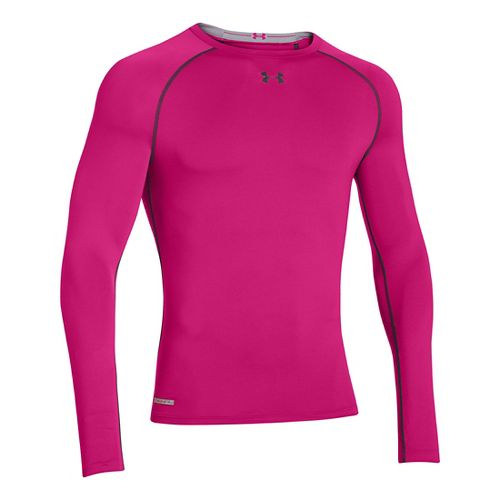 Mens Under Armour Heatgear Sonic Compression T Long Sleeve No Zip Technical Tops - Tropical ...