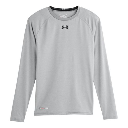 Mens Under Armour Heatgear Sonic Compression T Long Sleeve No Zip Technical Tops - True ...