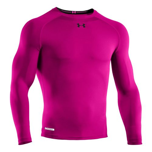 Mens Under Armour Heatgear Sonic Compression T Long Sleeve No Zip Technical Tops - Tropic ...