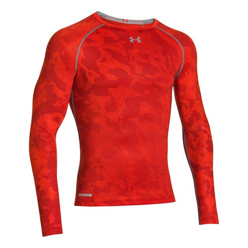 Mens Under Armour Heatgear Sonic Compression T Long Sleeve No Zip Technical Tops - ...