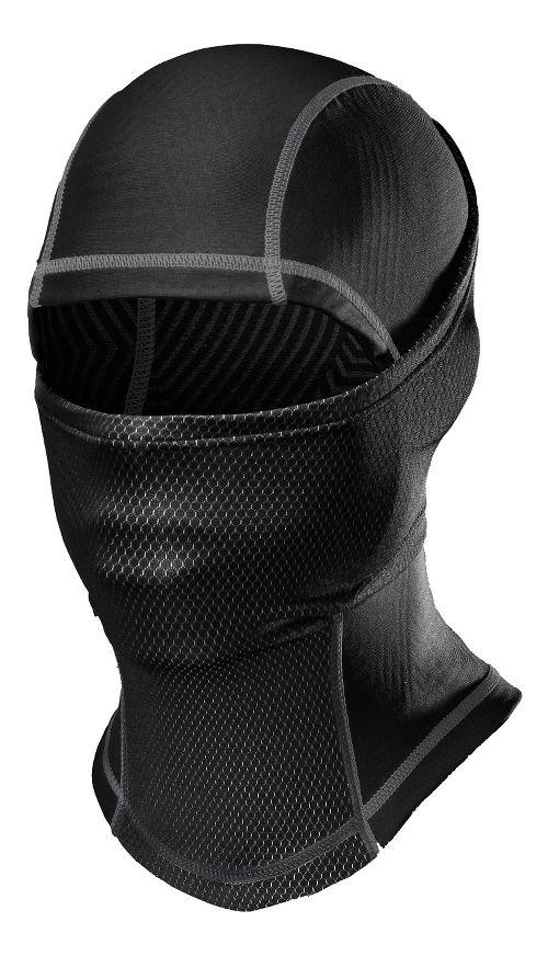 Mens Under Armour ColdGear Infrared Hood Headwear - Black Graphite
