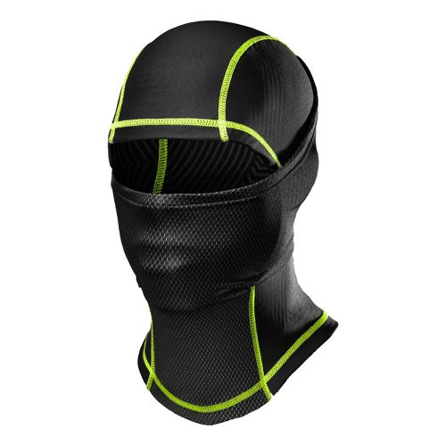 Mens Under Armour ColdGear Infrared Hood Headwear - Black/Hyper Green