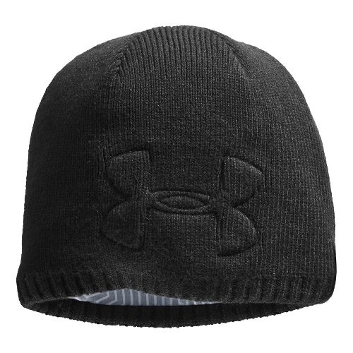 Mens Under Armour ColdGear Infrared Hardpack Beanie Headwear - Black