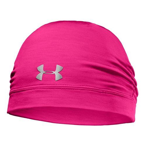 Womens Under Armour ColdGear Infrared Cozy Beanie Headwear - Pinkadelic/Silver