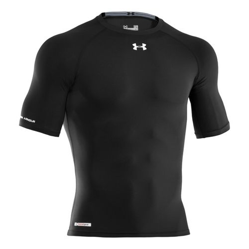 Mens Under Armour Heatgear Sonic Compression Half Sleeve Short Sleeve Technical Tops - ...