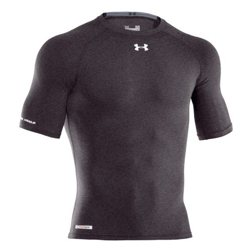 Mens Under Armour Heatgear Sonic Compression Half Sleeve Short Sleeve Technical Tops - Carbon ...