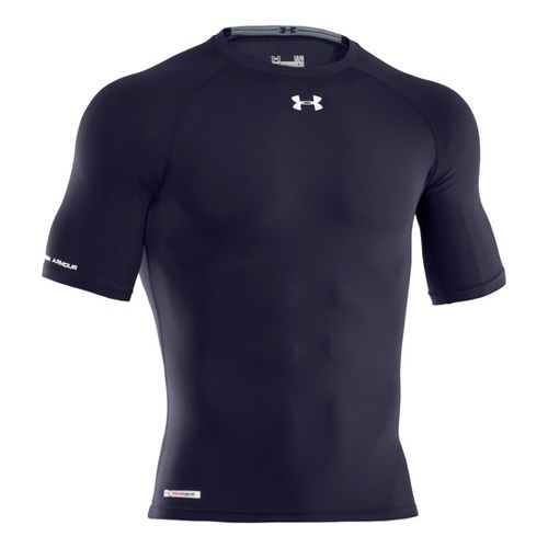 Mens Under Armour Heatgear Sonic Compression Half Sleeve Short Sleeve Technical Tops - Midnight ...