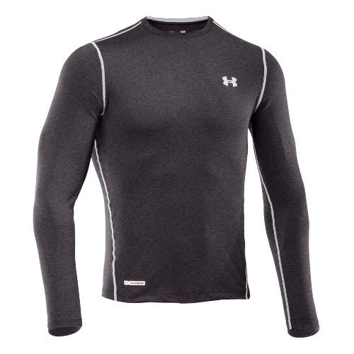 Mens Under Armour Heatgear Sonic Fitted T Long Sleeve No Zip Technical Tops - Carbon ...