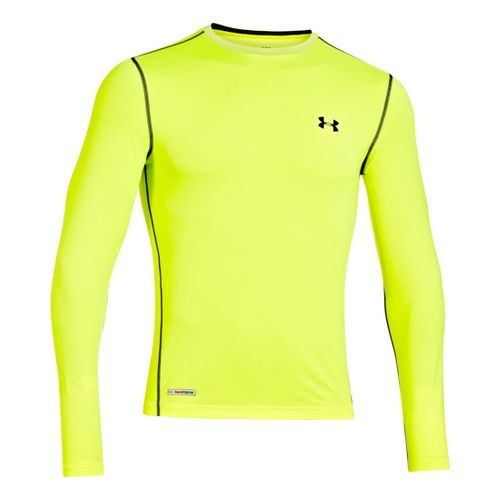 Mens Under Armour Heatgear Sonic Fitted T Long Sleeve No Zip Technical Tops - High ...