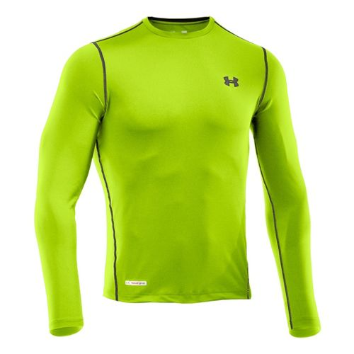 Mens Under Armour Heatgear Sonic Fitted T Long Sleeve No Zip Technical Tops - Hyper ...