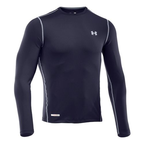 Mens Under Armour Heatgear Sonic Fitted T Long Sleeve No Zip Technical Tops - Midnight ...