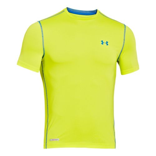 Mens Under Armour Heatgear Sonic Fitted T Short Sleeve Technical Tops - Flash Light/Superior ...