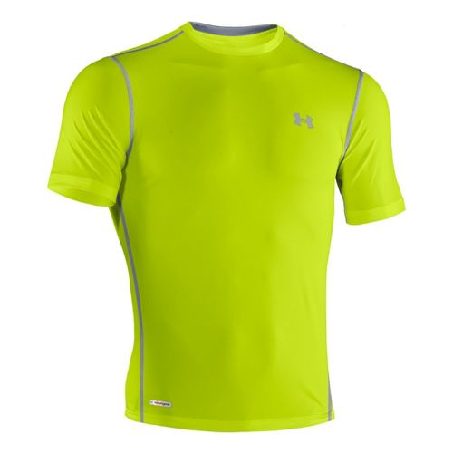 Mens Under Armour Heatgear Sonic Fitted T Short Sleeve Technical Tops - Velocity/Steel M