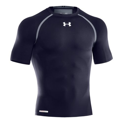 Mens Under Armour Heatgear Dynasty Compression T Short Sleeve Technical Tops - Midnight ...