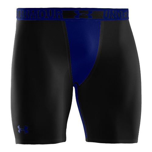 Mens Under Armour Heatgear Dynasty Compression Fitted Shorts - Black/Royal M