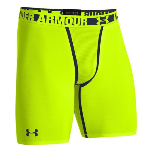 Mens Under Armour Heatgear Dynasty Compression Fitted Shorts - High Vis Yellow S
