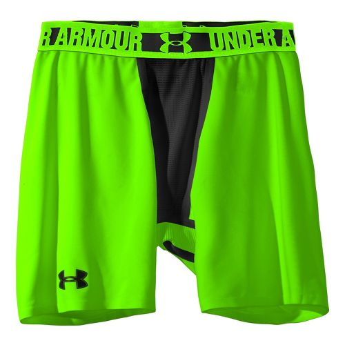 Mens Under Armour Heatgear Dynasty Compression Fitted Shorts - Hyper Green/Black XXL