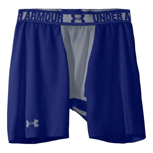 Mens Under Armour Heatgear Dynasty Compression Fitted Shorts - Royal/Steel S