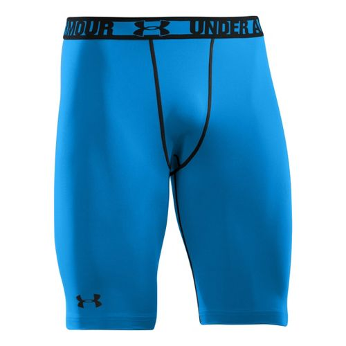 Mens Under Armour Heatgear Sonic Long Compression Fitted Shorts - Electric Blue/Black M
