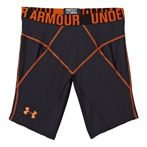 Mens Under Armour Coreshort Prima Fitted Shorts - Black/Explosive L