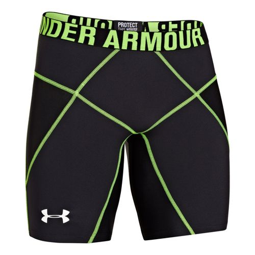 Mens Under Armour Coreshort Prima Fitted Shorts - Black/Hyper Green S