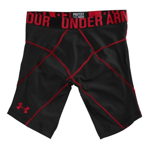 Mens Under Armour Coreshort Prima Fitted Shorts - Black/Red XL