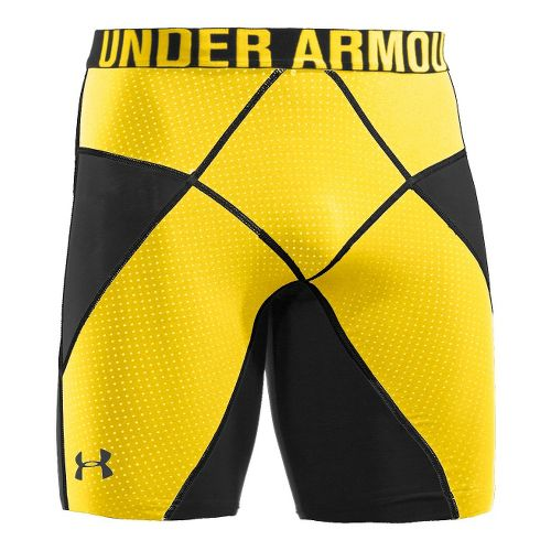 Mens Under Armour Coreshort Prima Fitted Shorts - Black/Taxi L