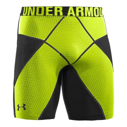 Mens Under Armour Coreshort Prima Fitted Shorts - Black/Velocity XL
