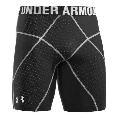 Mens Under Armour Coreshort Prima Fitted Shorts - Black/White XL