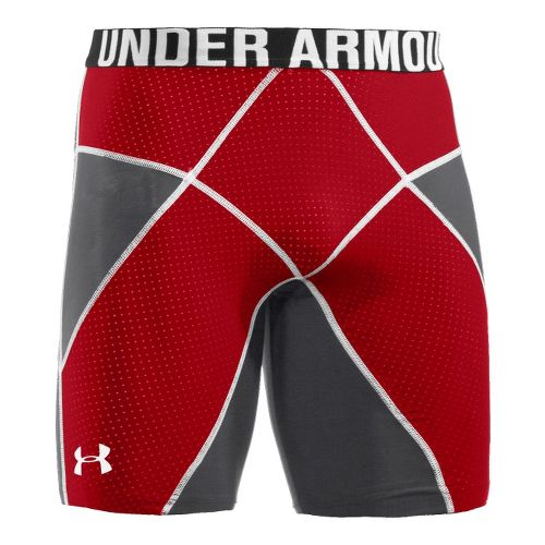 Mens Under Armour Coreshort Prima Fitted Shorts - Graphite/Red XL